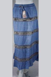 Rok Jeans Trendy 463 - Biru Muda (Toko Jilbab dan Busana Muslimah Terbaru)