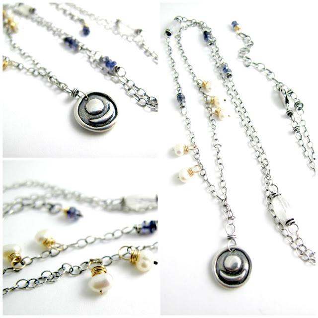 sun moon yoga union necklace sterling silver charm beth hemmila