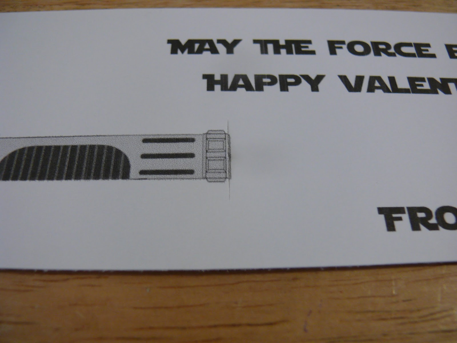 picture about Lightsaber Valentine Printable referred to as Imperfect Wonderful: Totally free Printable Lightsaber Valentines