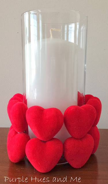 Valentine's Day candle heart sleeve