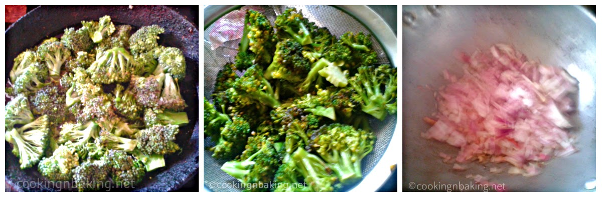 Egg Coated Broccoli Stir Fry