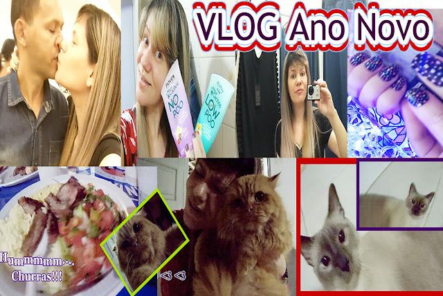 Blog e Canal Roxachic - VLOG Ano Novo: Look/Cabelo/Unhas, Churras, Corre-Corre, Família, Gatos Lindos/Garfield, Reflexão!