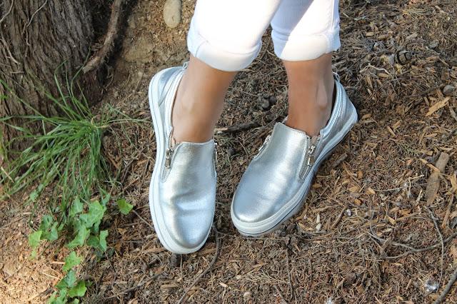 Bershka silver shoes
