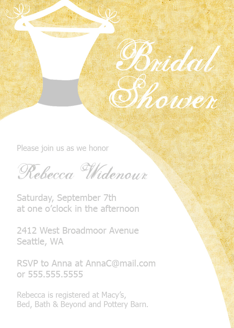 Bear river photo greetings bridal shower invitations for Online wedding shower invitations
