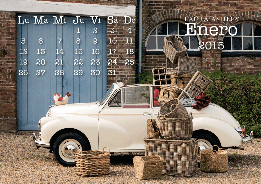 Calendario Enero 2015 Laura Ashley