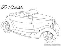Gambar Mobil Ford Gabriole Untuk Diwarnai