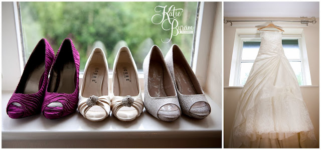 wedding shoes, wedding dress, crook hall durham wedding, st michaels houghton le spring wedding, crook hall and gardens, durham wedding venue, katie byram photography, durham wedding photographer, newcastle wedding photographer, relaxed weddings durham, purple wedding, calla lillies