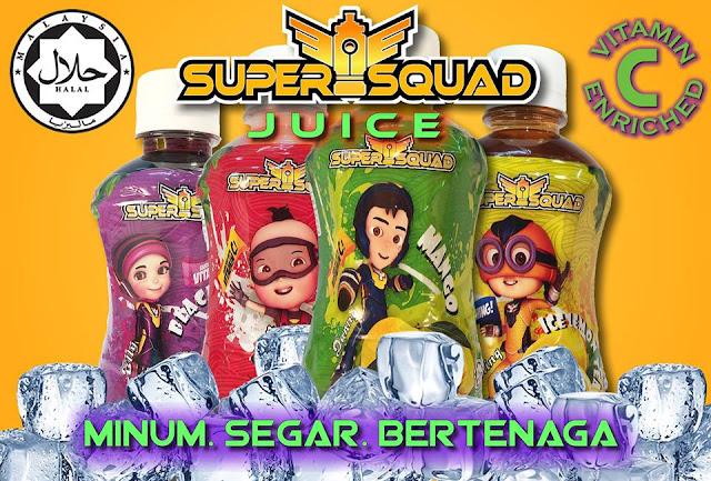 SuperSquad Hadir Dengan Minuman Jus Buah-Buahan