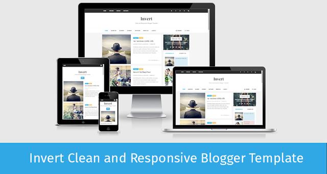 Chia sẻ 2 template blogspot Invert Responsive chuẩn seo