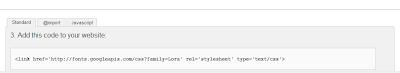Google web fonts CSS Code