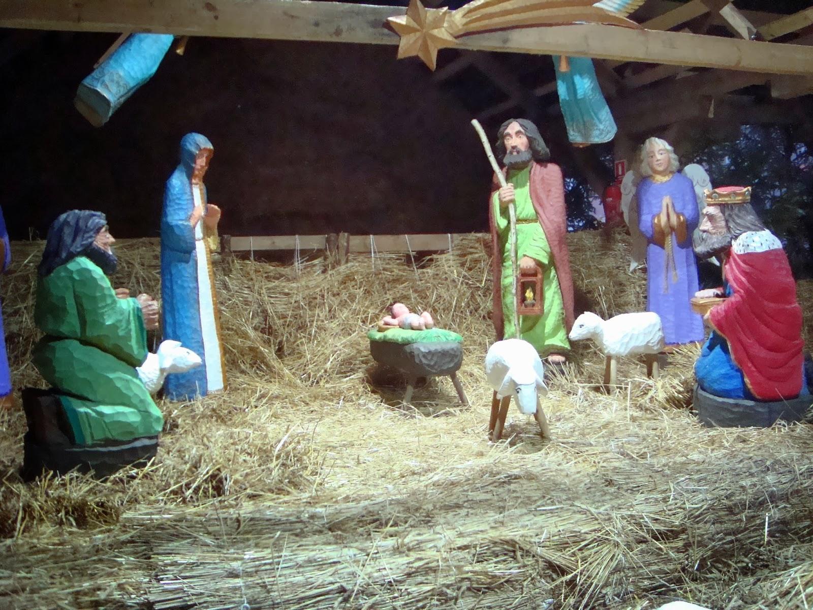 świąteczny Toruń, nowy rynek, szopka