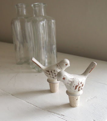 Ceramic bird stopper by Red Lilly