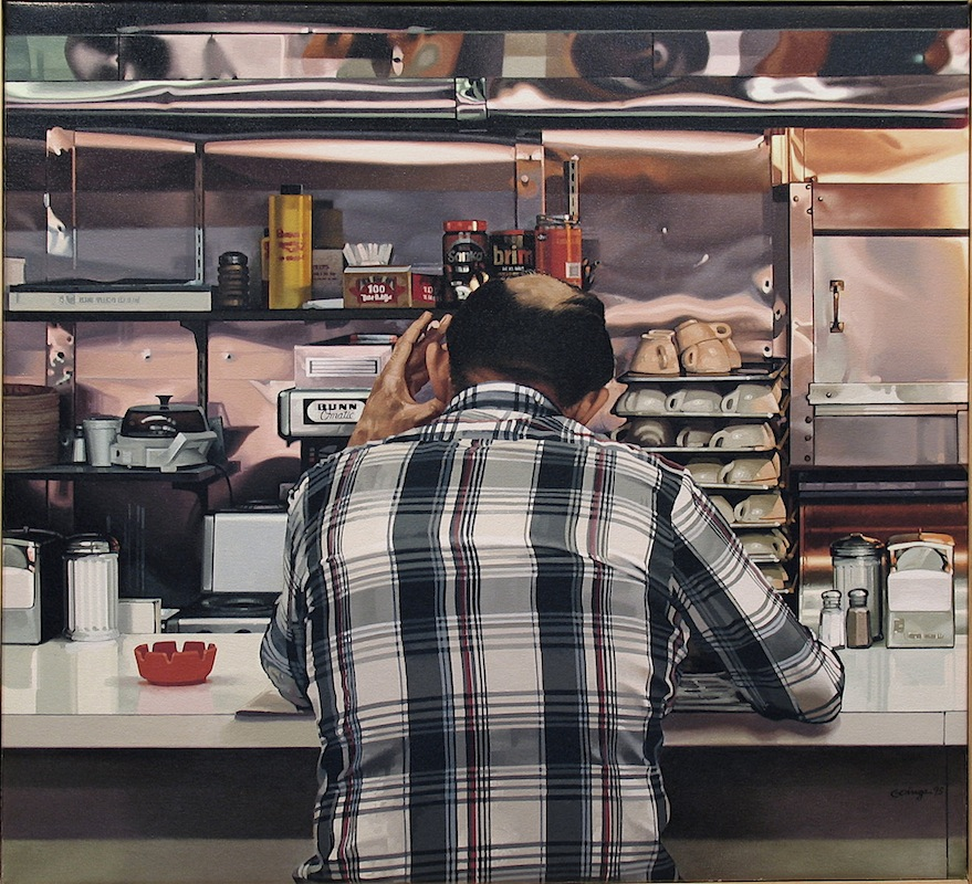 06-Morning-Paper-Ruby-s-Diner-Ralph-Goings-Hyper-Realistic-Paintings-of-Everyday-Scenes-www-designstack-co