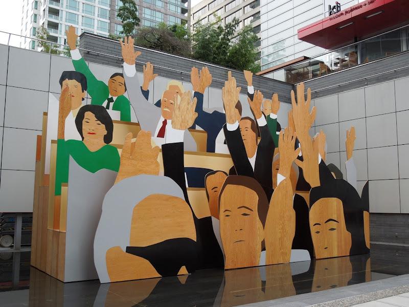 Hand Vote Kota Ezawa sculpture Vancouver
