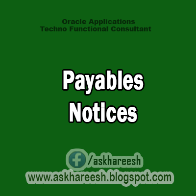 Payables Notices