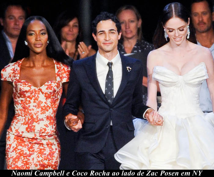 ZAC POSEN E AS MULHERES MODERNAS_Desfile com vestido de noiva_Coco Rocha_Naomi Campbell 2012_Zac Posen_Verão 2013_Spring 2013_NYFW