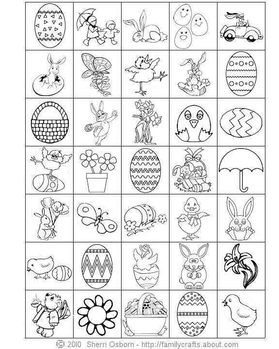 Easter Bingo Game Squares BW easter games and activities for kids let's celebrate! on easter bingo printable
