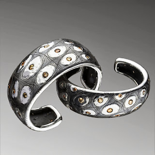 sterling silver with brown diamonds, Pedro Boregard, silver jewelry
