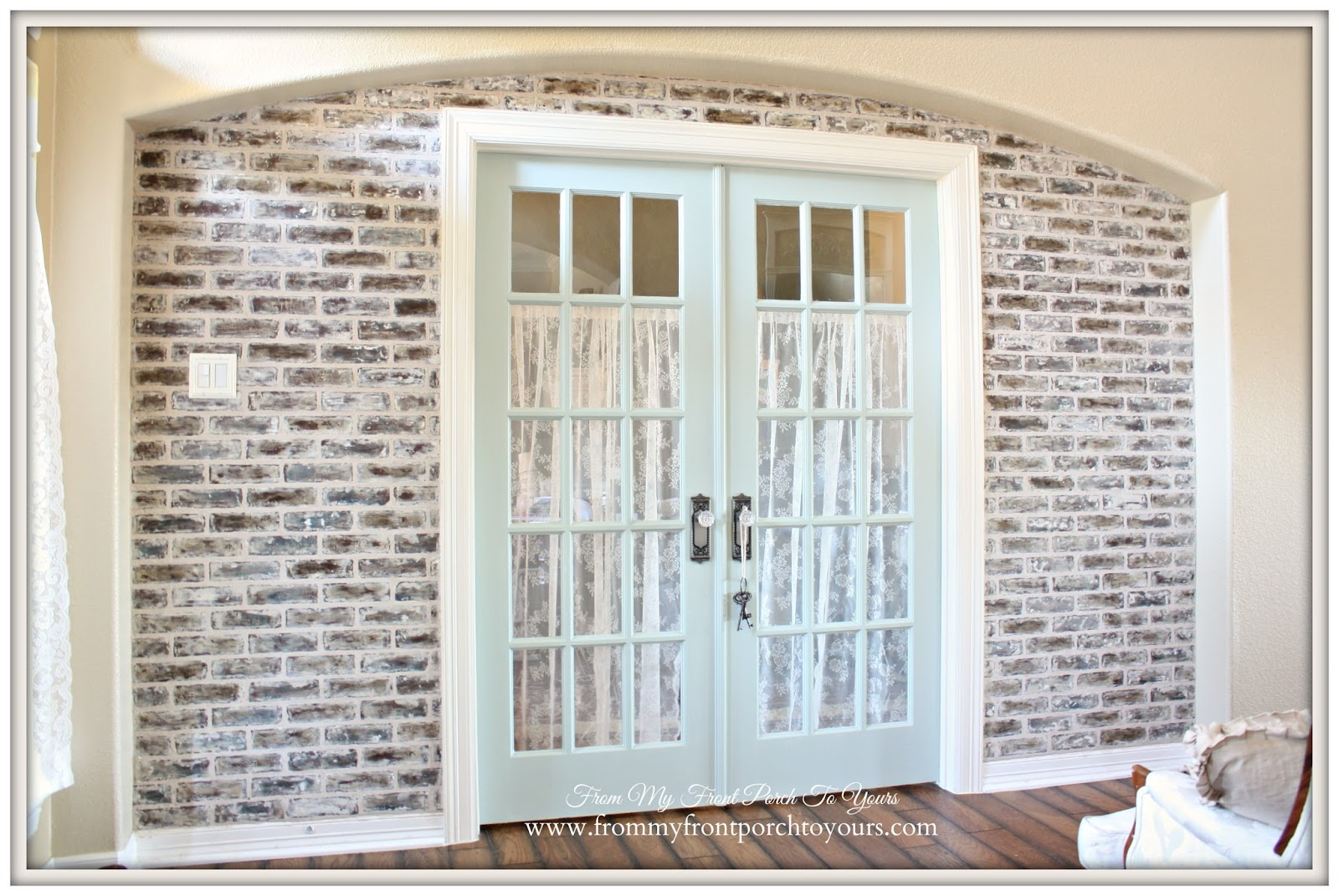 From My Front Porch To Yours: DIY Faux Brick Wall Tutorial Using ...