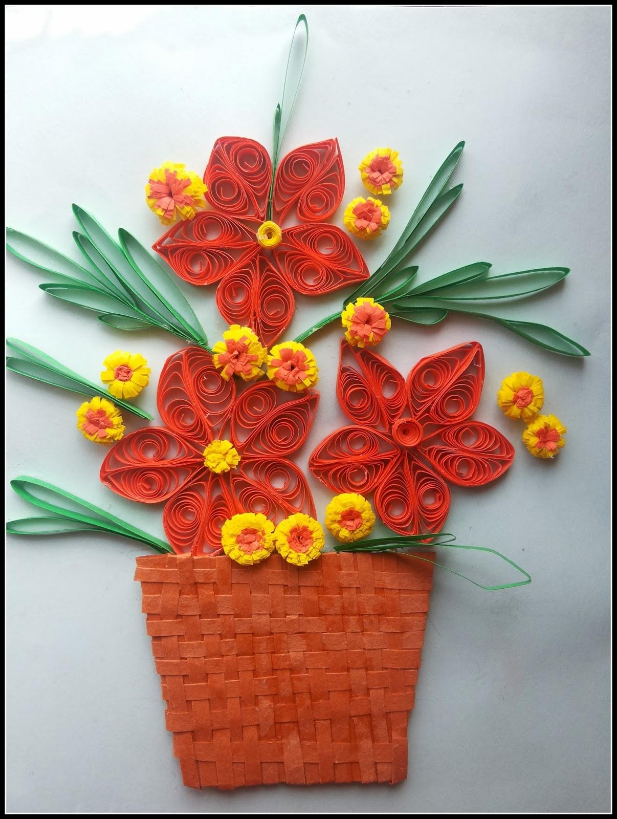 http://quillingzone.blogspot.tw/2014/02/flower-bouquet.html