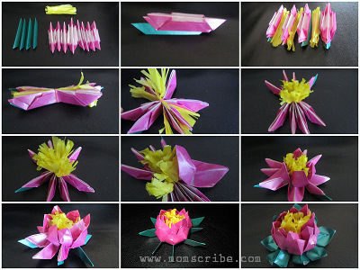 Led lotus flower origami step by step instructions momscribe origami flowers mightylinksfo