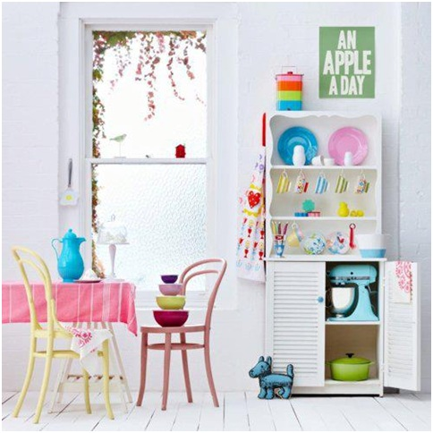 Cute and Colorful Kitchen