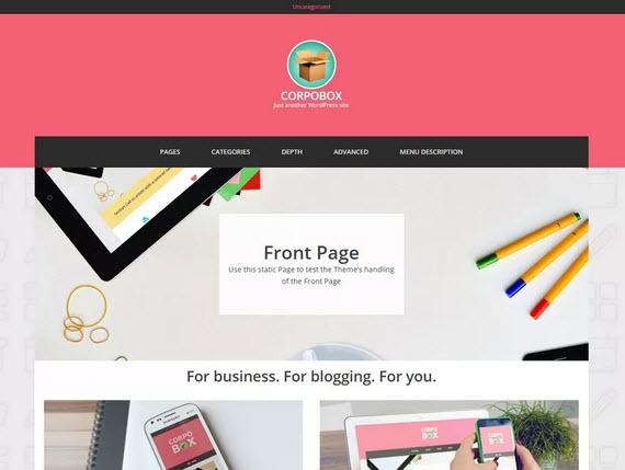 Corpobox Lite Wordpress theme