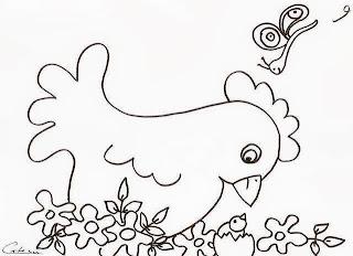 risco galinha para pintar