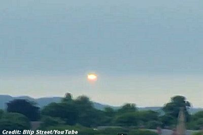 Glowing UFO Descends Onto Leeds 8-4-13