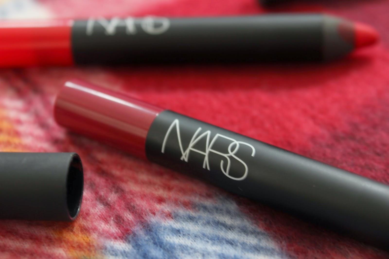 NARS Velvet Matte Lip Pencils // Dragon Girl & Damned