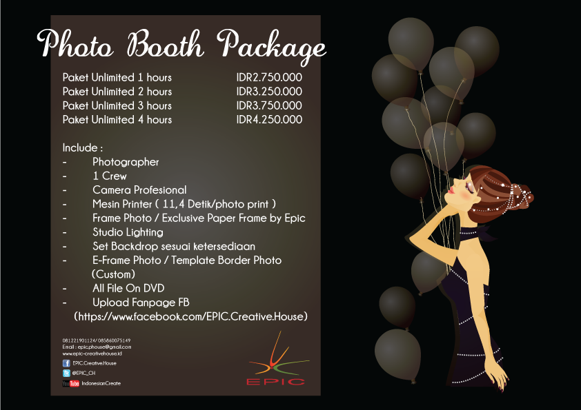 Price list photo booth Bandung
