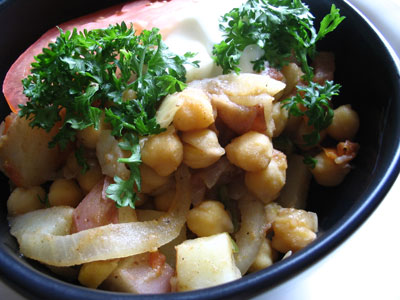 Spicy Chickpea and Potato Curry