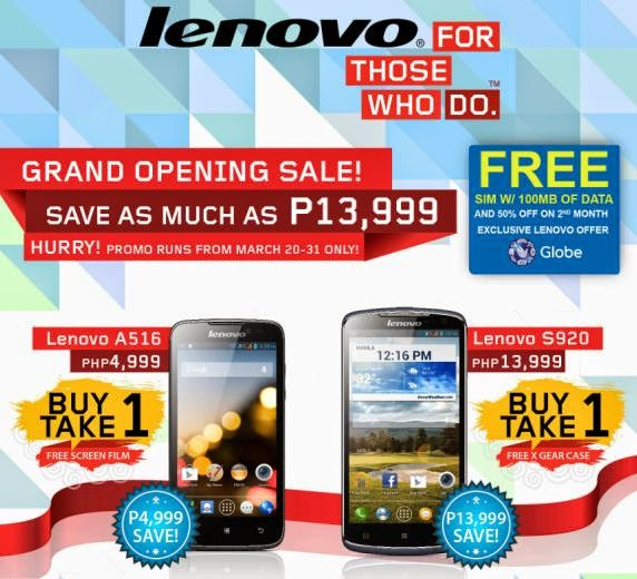 Lenovo Grand Opening Sale, Get As Much As Php13,999 Discount