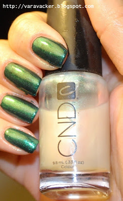 naglar, nails, nagellack, nail polish, CND, green, grönt