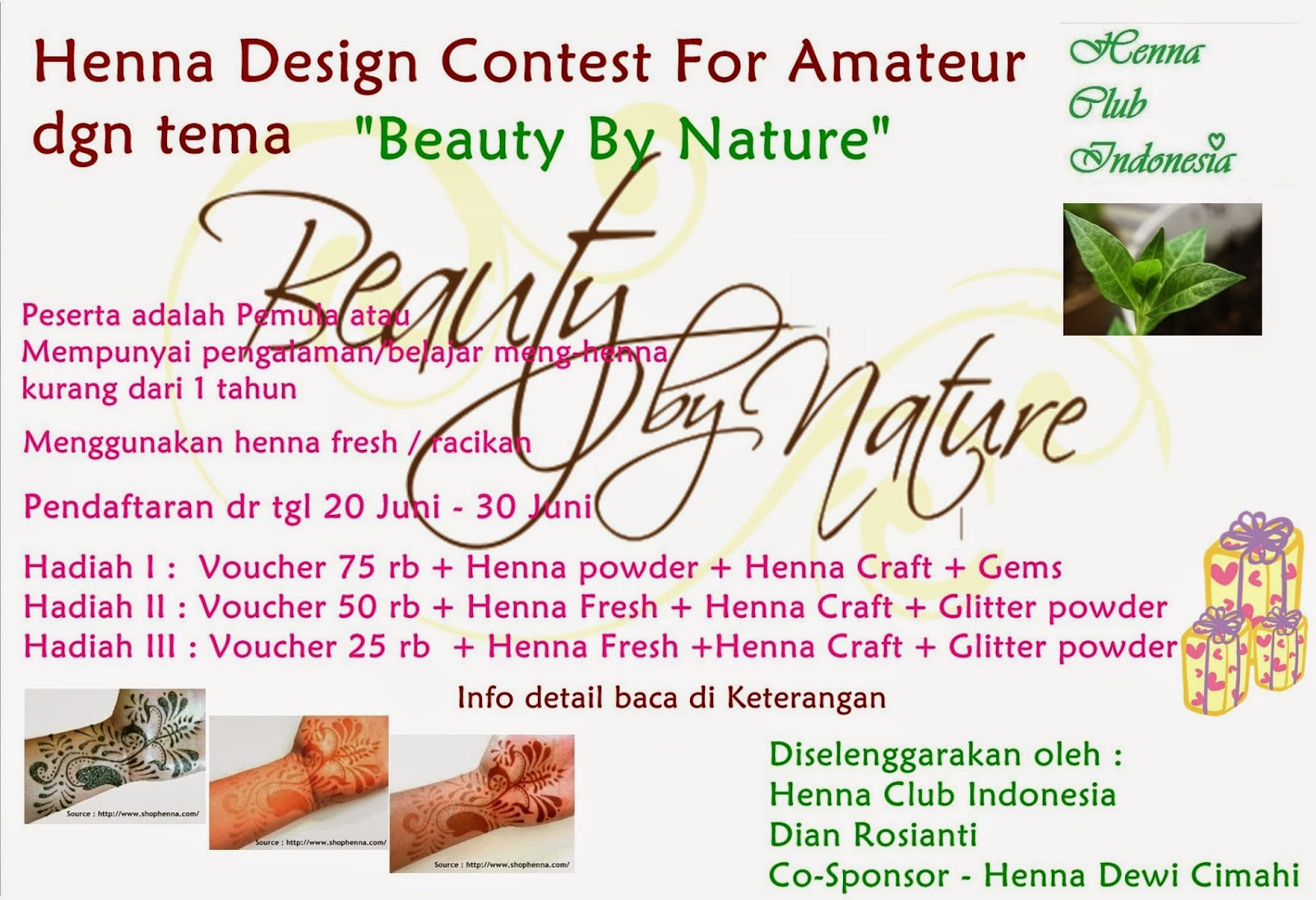 Henna Club Indonesia Henna Design Contest For Amateur Dgn Tema