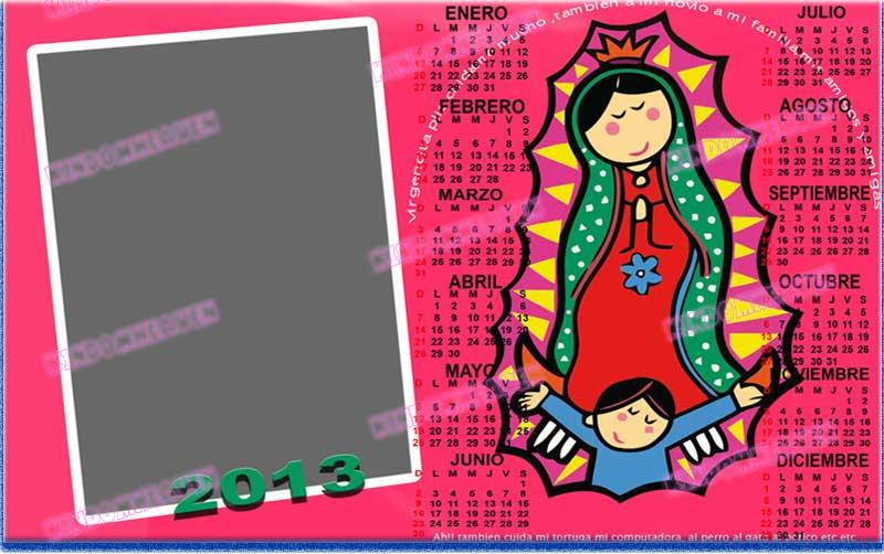 calendario 2013 psd para imprimir photoshop la virgen maria guadalupe
