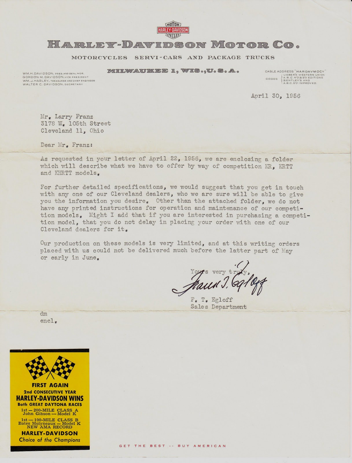 Knuckle buster 1939 a hill climbers history another letter from a hill climbers history another letter from the h d factory 1956 thecheapjerseys Gallery