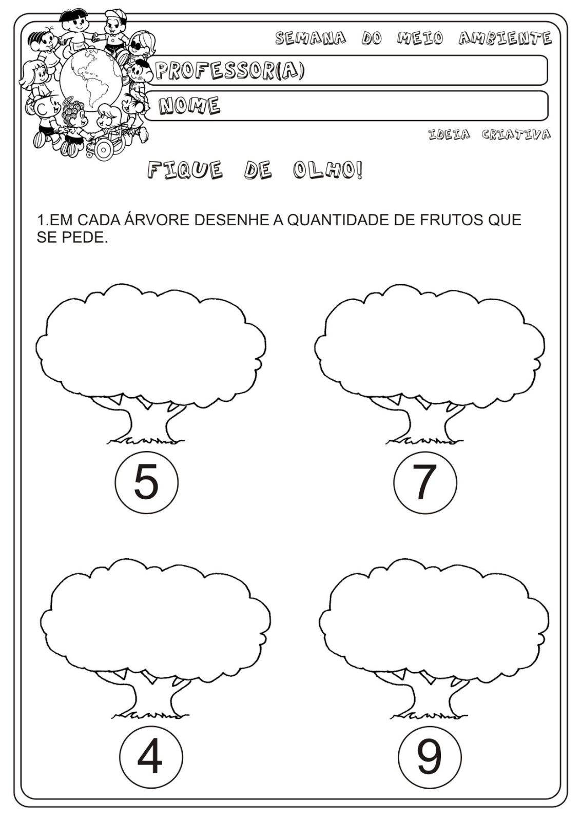 Fabuloso Atividade Meio Ambiente Matemática Educação Infantil | Ideia  QU75
