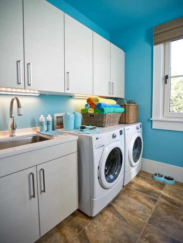 Modern furniture laundry room pictures hgtv dream home 2013 - Best colors for a laundry room ...