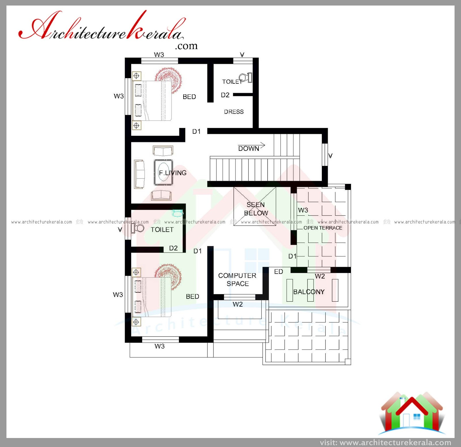 1800 Square Feet House Plan And Elevation Architecture