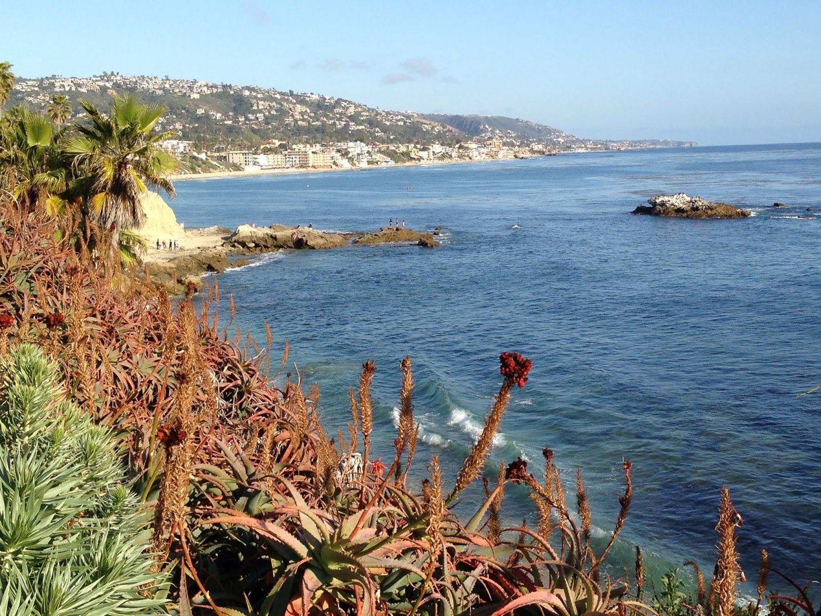 Laguna Beach and the Pacific ocean