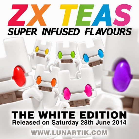 """White Edition"" ZX TEAS Box Set of 7 Lunartik Mini-Teas by Matt JOnes"