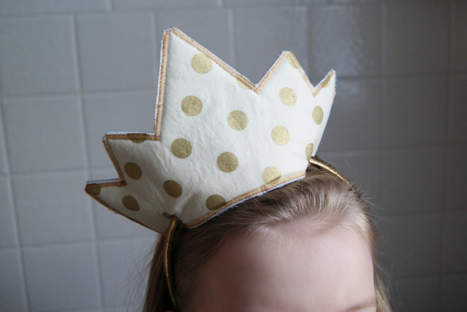 Gold Polka Dot Headband Crown by nest full of eggs