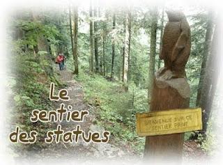 Sentier des statues