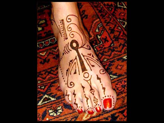 Foot and Arm Henna Mehndi Designs
