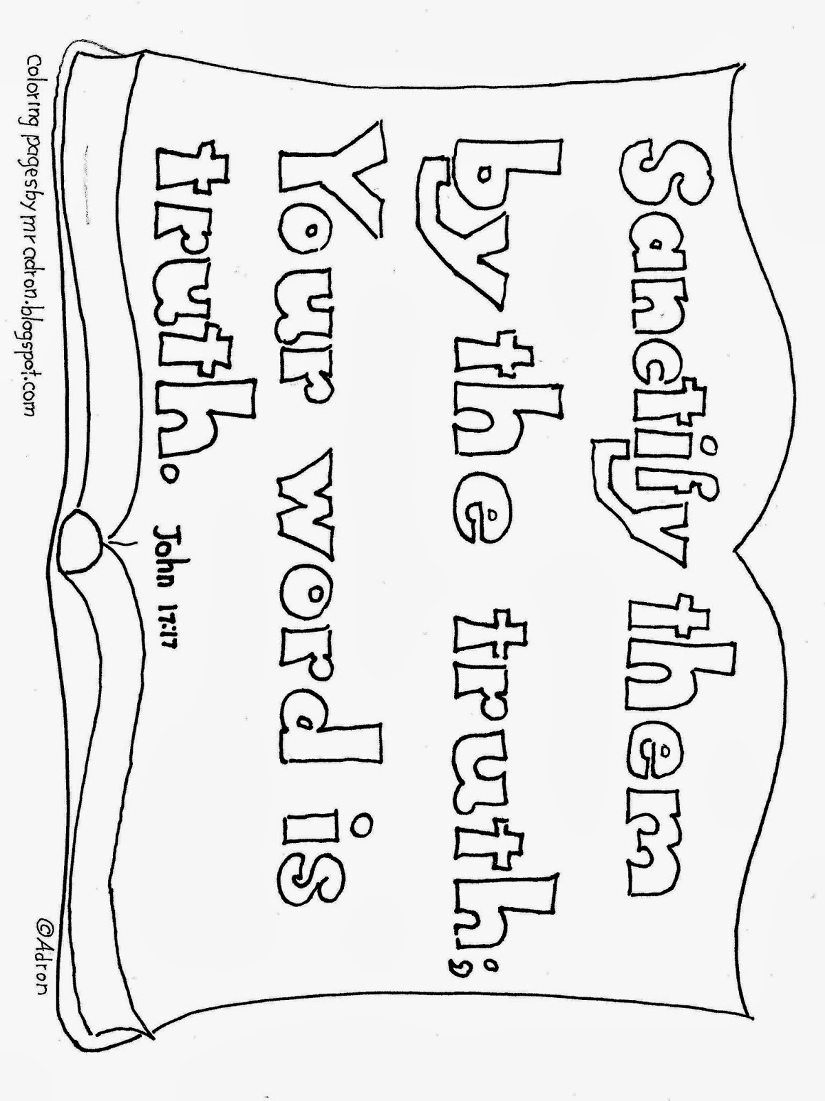Your Word Is Truth Bible Coloring Page wallpapers
