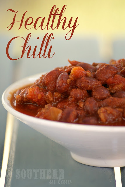 Healthy Chilli Recipe - Low Fat, Gluten Free, Clean Eating Friendly, Paleo