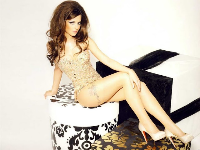 Cheryl Cole sexy in lingerie fashion