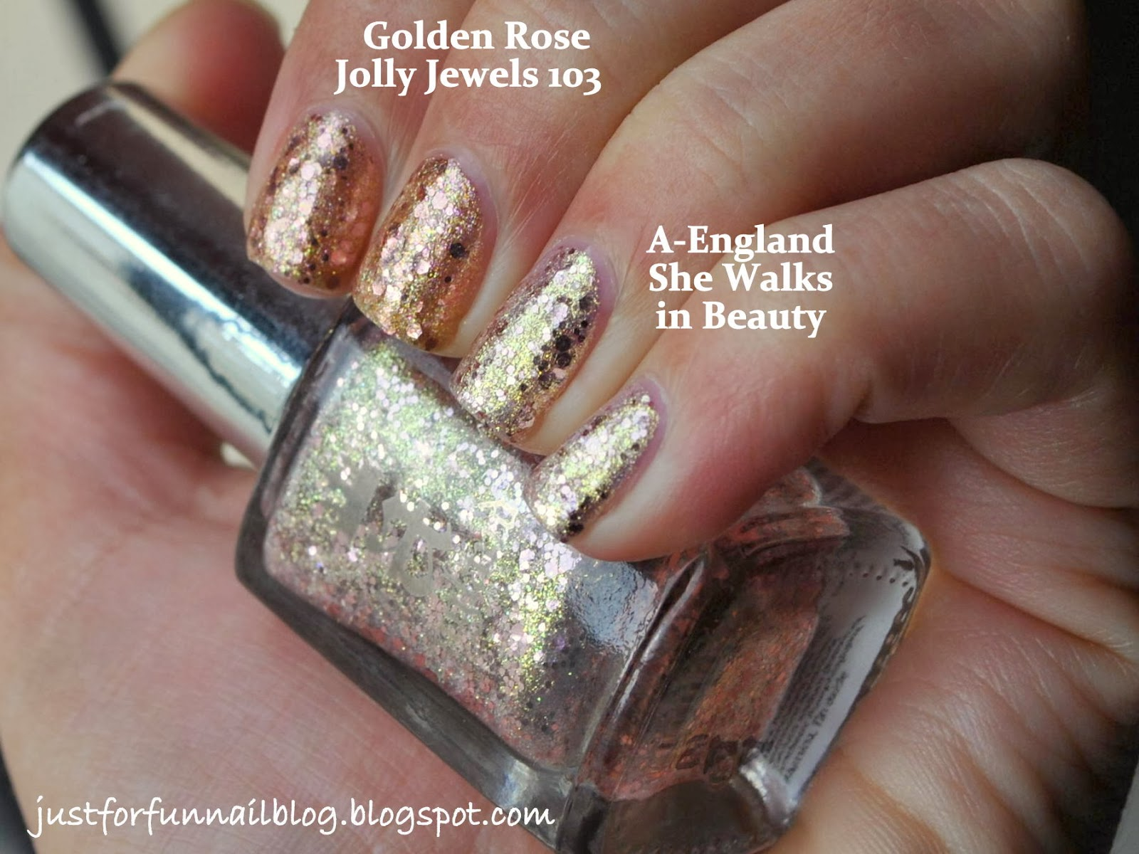 Comparison: A-England She Walks in Beauty VS. Golden Rose Jolly Jewels 103