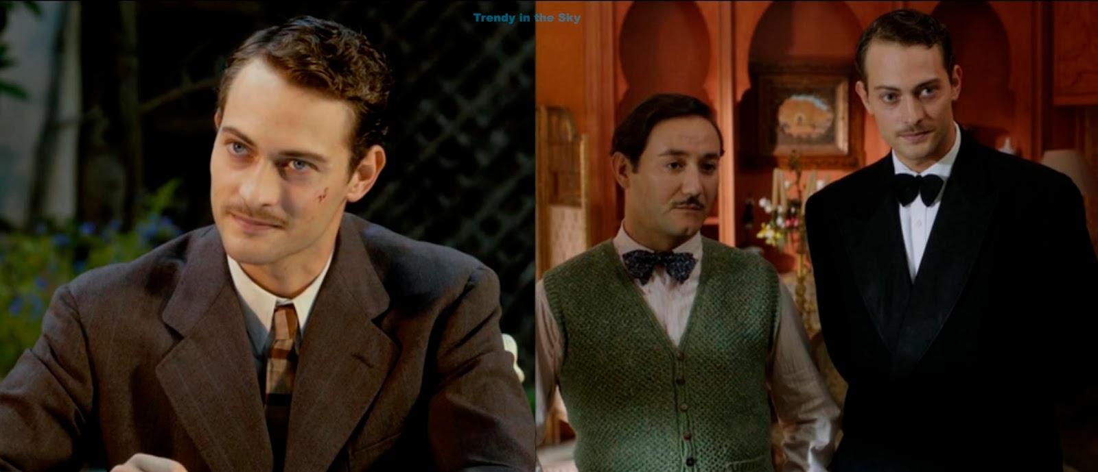 Marcus Logan traje sastre de lana marrón con raya diplomática y ...